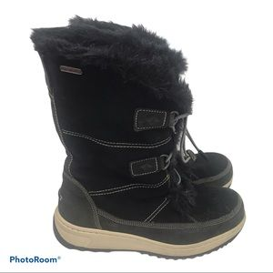 Sperry Black Powder Valley Fur Lined Winter Boots